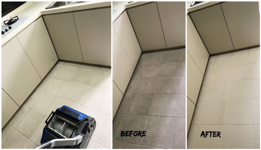 Grout Cleaning Service before and after